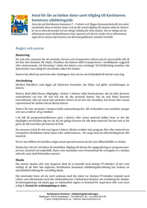 Avtal för lån av bärbar dator NYA 7or HT14 (2)