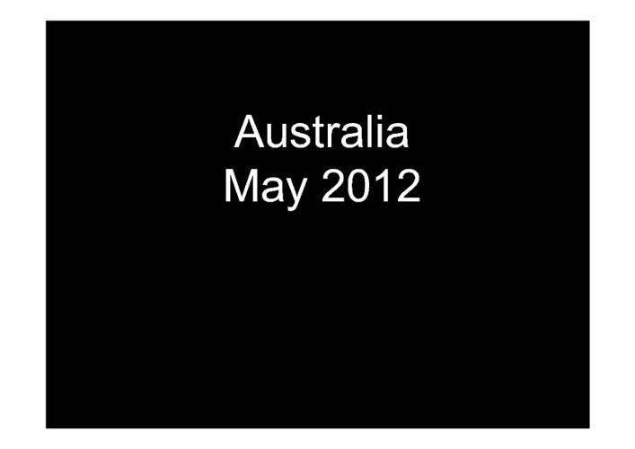 Australia May 2012