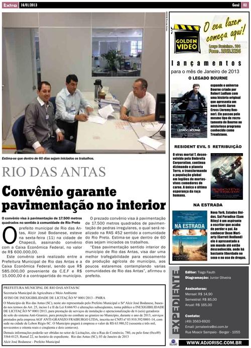 Jornal Extra 16/01/2012