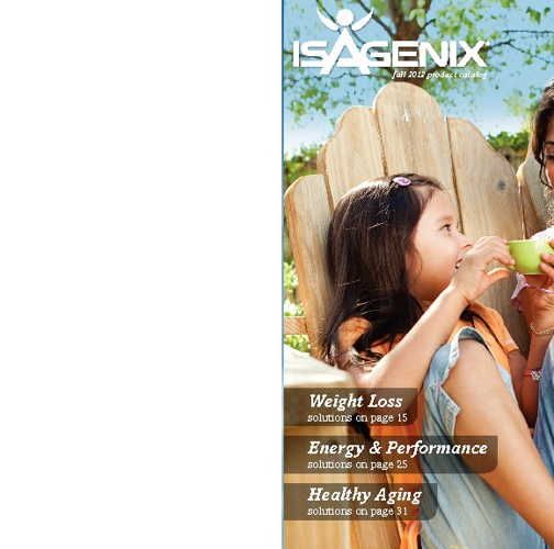 Isagenix Fall 2012 Catalog