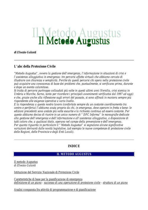METODO AUGUSTUS