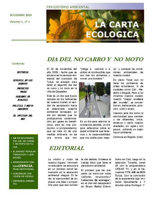 LA CARTA ECOLOGICA 1