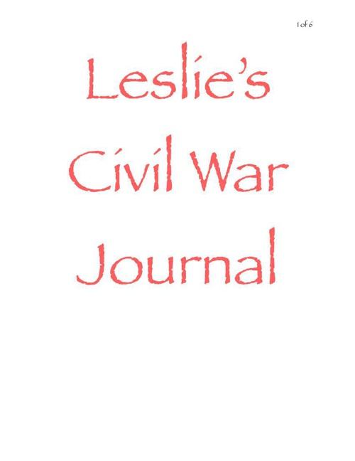 Leslie's Civil War Journal