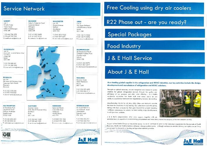 J&E Hall industrial refrigeration