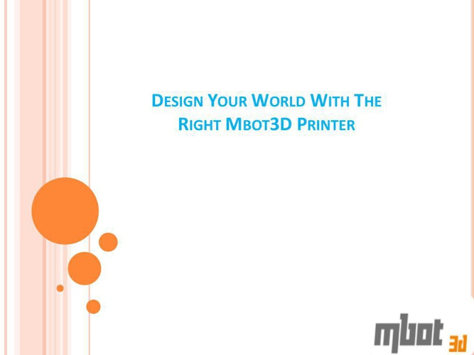 Professional Desktop 3d Printers By Mbot3d