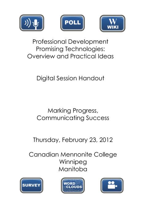 Manitoba 2012 Presentation Digital Handout