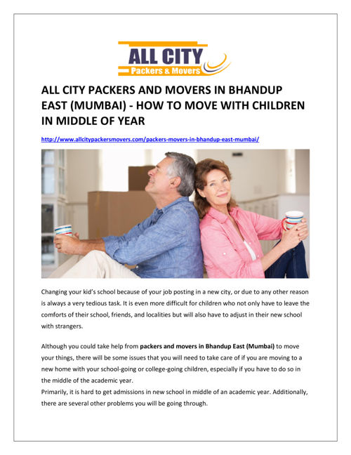 All city packers and movers in bhandup east (mumbai)
