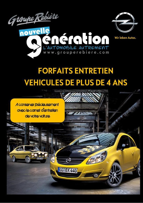 Forfaits Entretien Opel