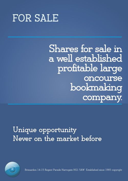 Bookmaker Shares For Sale