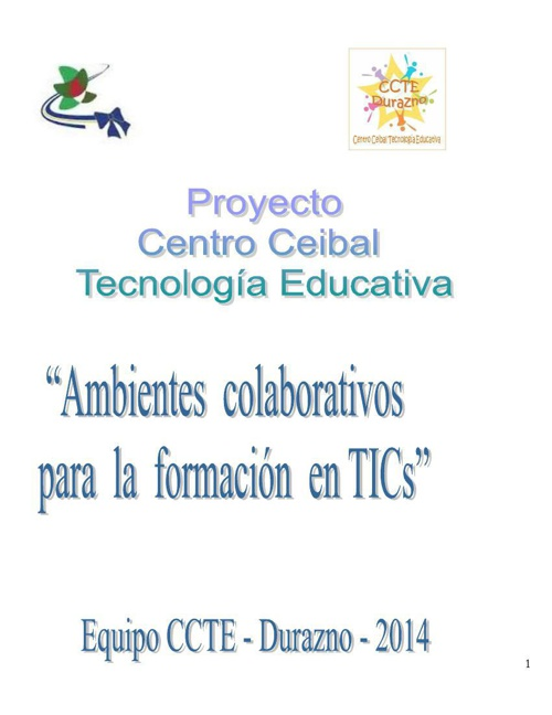 Proyecto CCTE_Durazno  2014