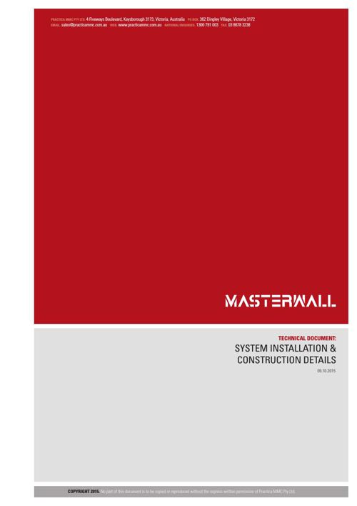 MasterWall Architectural Specifications