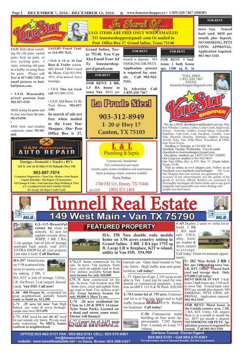 EPUB LONE STAR SHOPPER 12/7/2016