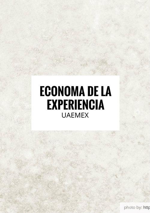 ECONOMÍA DE LA EXPERIENCIA