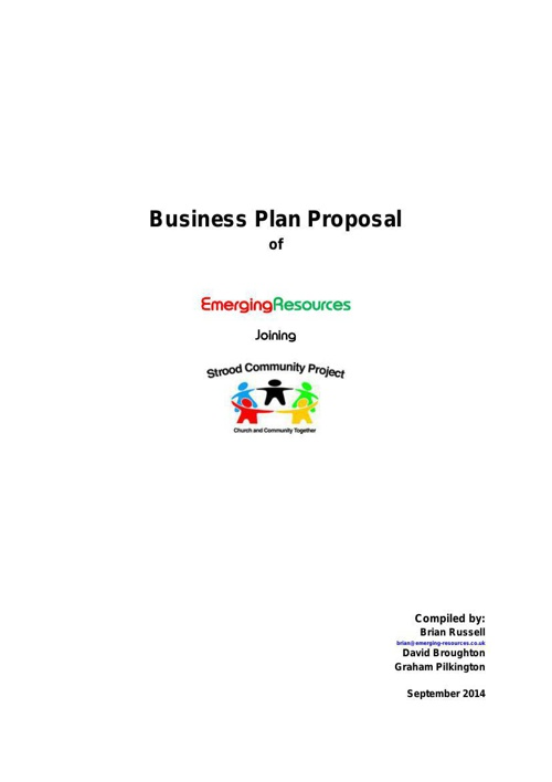 Business Plan 2014 ER SCP Finished