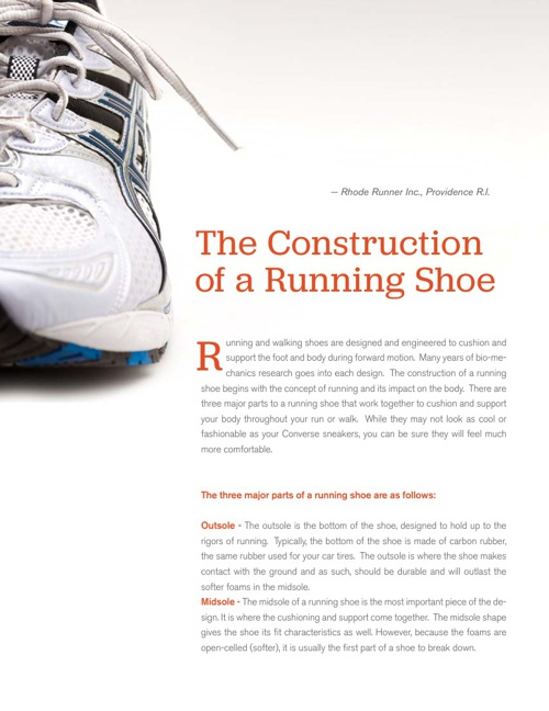 The Construction of a Running Shoe