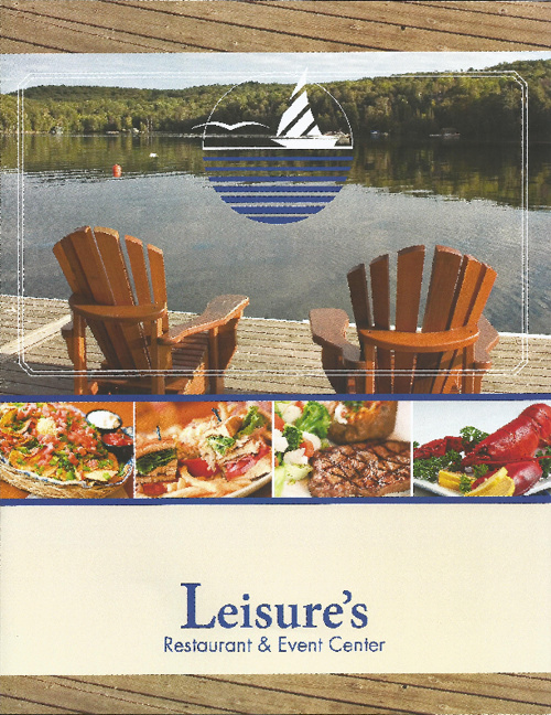 Leisure's Menu