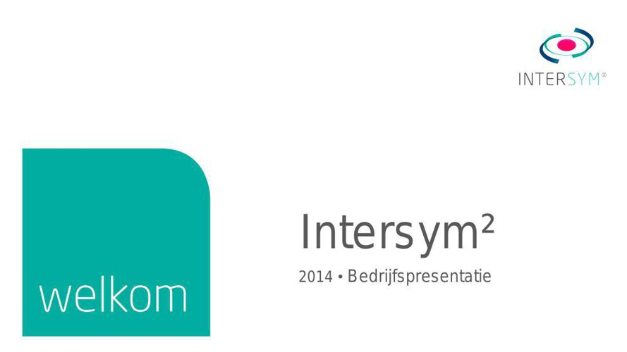 Bedrijfspresentatie Intersym2