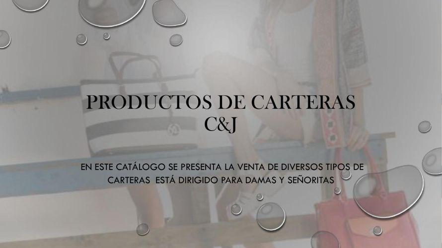 PRODUCTOS DE CARTERAS  C&J
