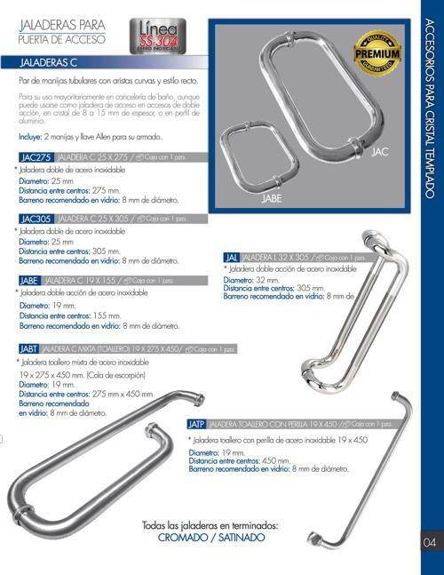 Catálogo 2014 de Herrajes y accesirios para cristal templado