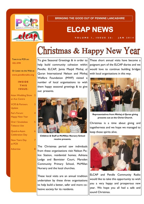 Issue 26 - Jan 2014 - ELCAP E-Newsletter