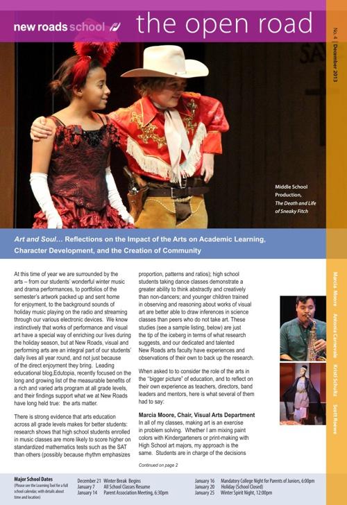 The Open Road Newsletter December 2013