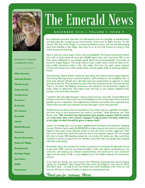 The Emerald News: Volume 2, Issue 9 (December 2010)