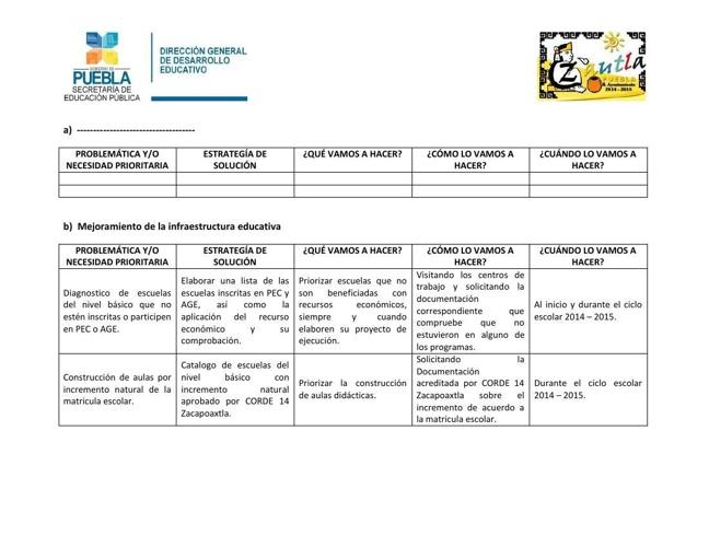 Proyecto Consejo Municipal de Participación Social. Zautla, Pueb
