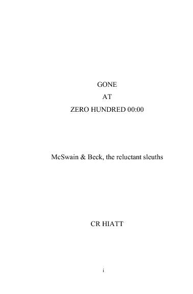 Gone at Zero Hundred 00:00 Opening Sample