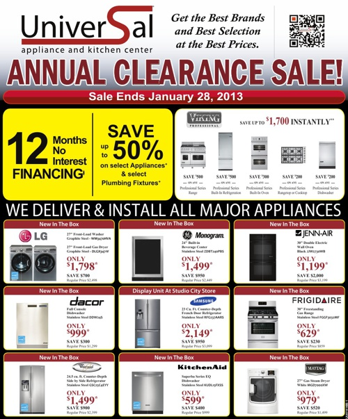 ANNUAL CLEARANCE SALE!