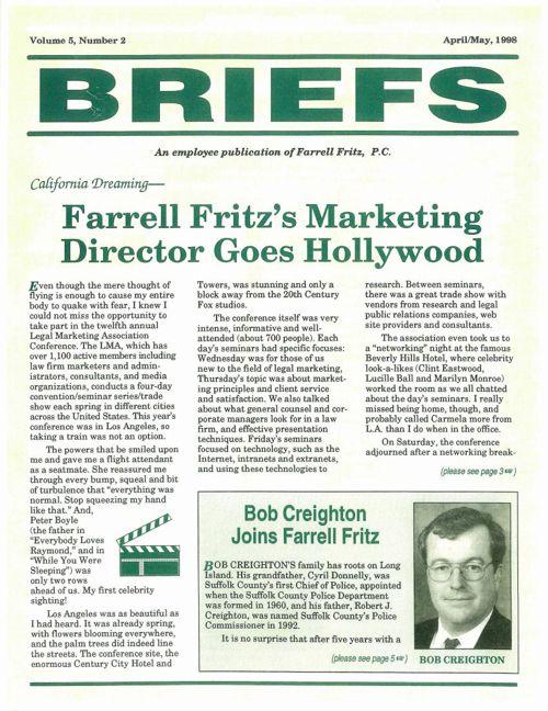 FF Briefs April May 1998