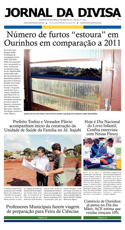 JORNAL DA DIVISA - Edição de 18 de Abril de 2012.