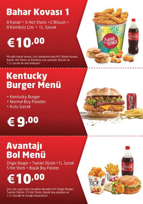 KFC Menü