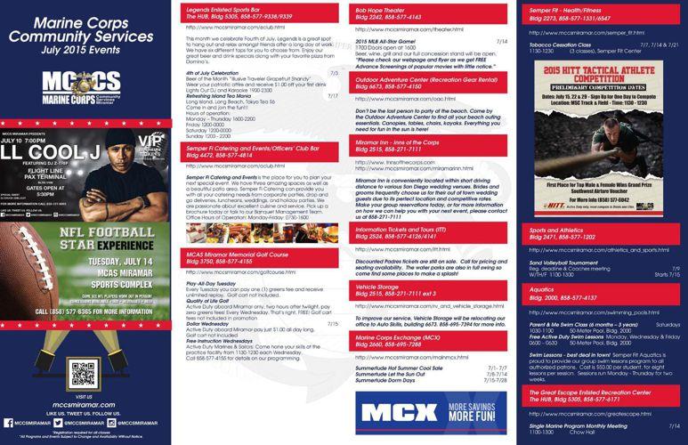 MCCS Miramar Monthly Newsletter