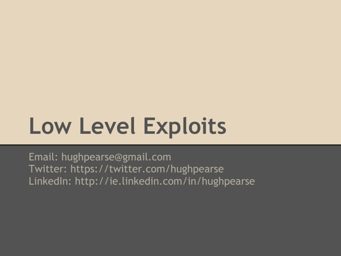 Low-Level-Exploits