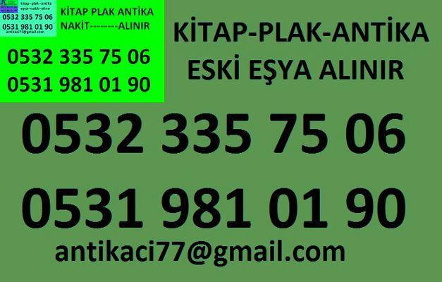 0531 981 01 90 FATİH SÜREYYAPAŞA antika-eşya-plak-kitap-el yazma