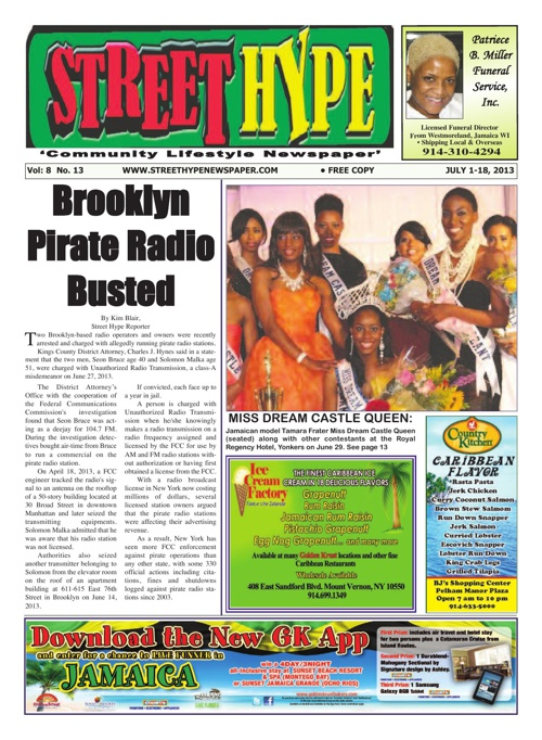 Street Hype Newspaper - July 1-18, 2013