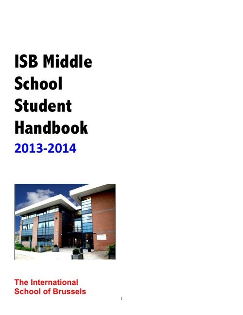 Middle School Student Handbook 2013-2014
