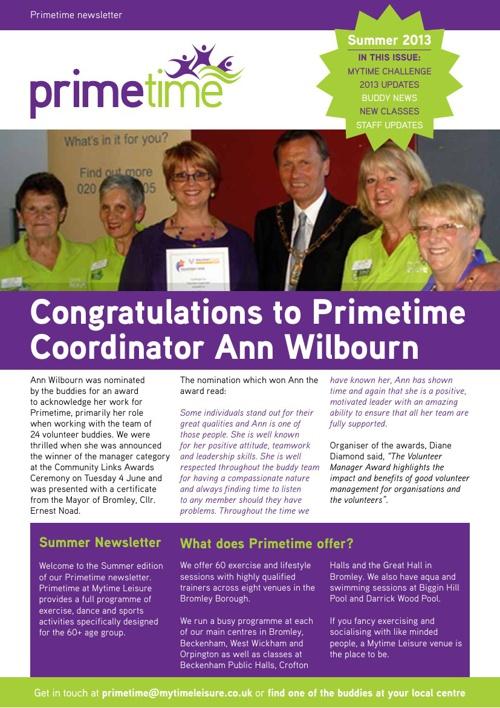 Primetime Newsletter - Summer 2013