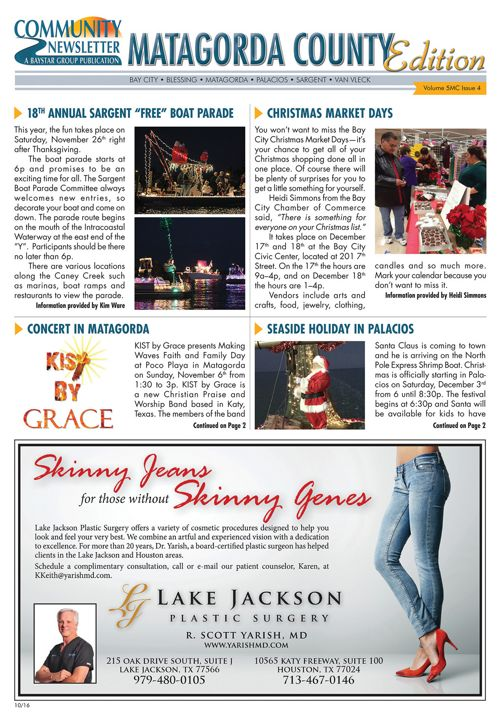 Matagorda County Community Newsletter Volume 5 Issue 4