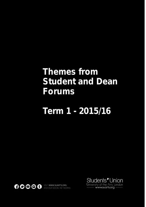 Student and Dean Forums Term 1 201516