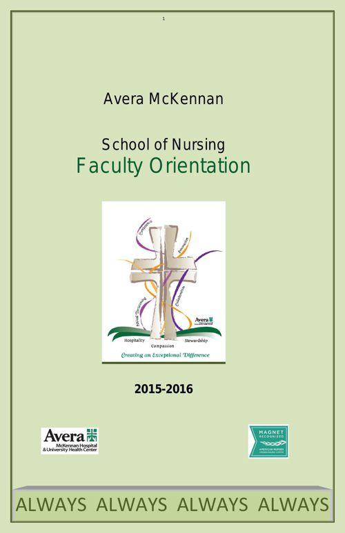 SON Faculty Orientation 2015-2016