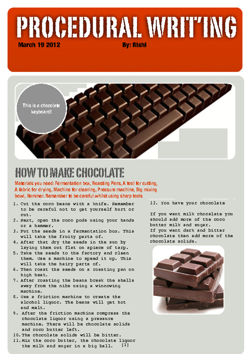 How to make Chocolate G4