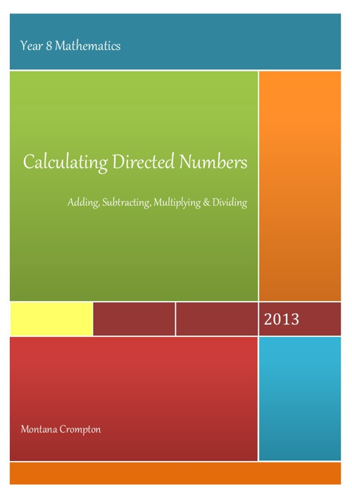 Calculating Directed Numbers