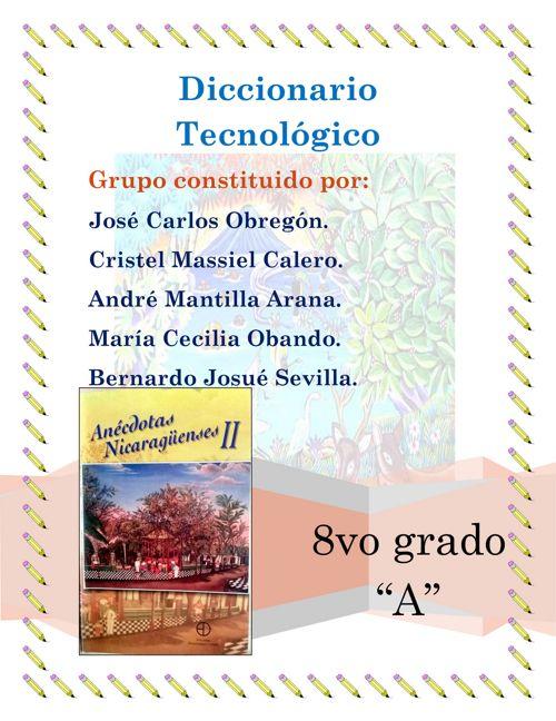 Diccionario tec.  lenguaje taller 2017 jose y cristel 2