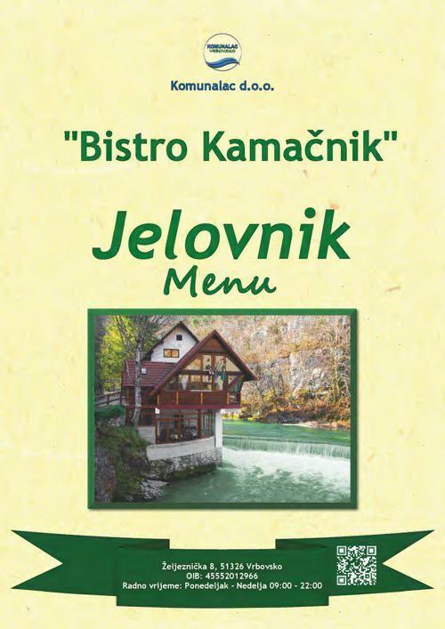 """Meni bistro """"Kamačnik"""""""
