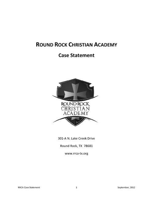 RRCA Case Statement