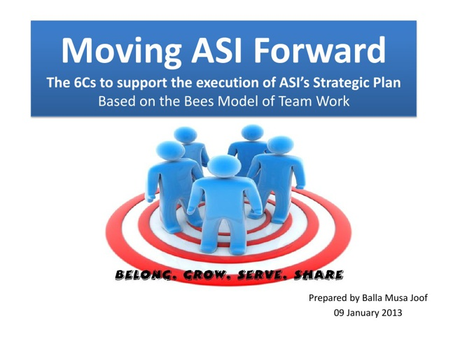 Moving ASI Forward- A Model for Team Work