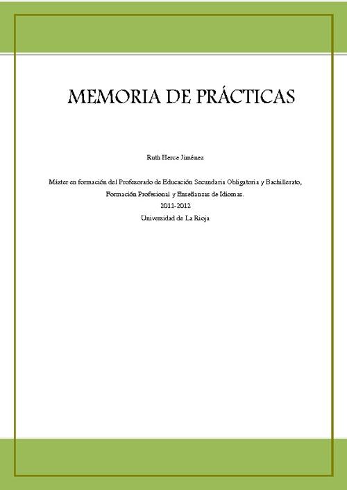 Memoria Prácticas Ruth Herce