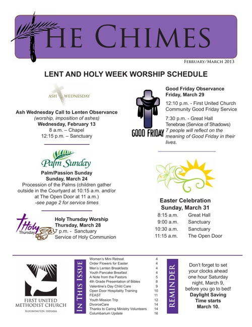 The Chimes: February-March 2013 Edition