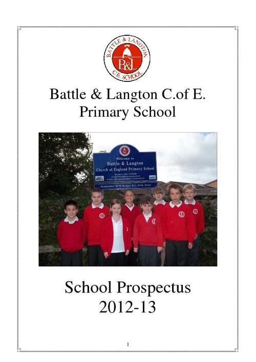 Battle & Langton School Prospectus